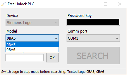 Siemens Logo password reset