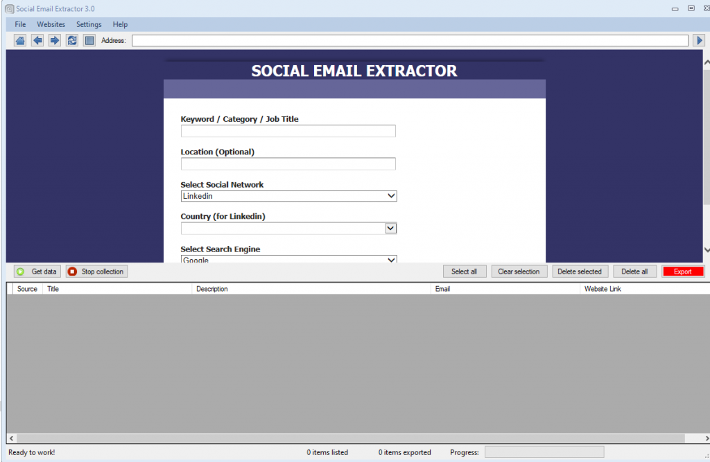 Social Email Extractor v3.5.0 Cracked